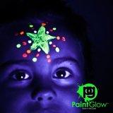 Peinture corps et visage luminescente dans l'obscurité Paintglow en tubes 10 x 13 ml _