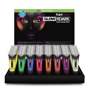 Peinture corps et visage luminescente dans l'obscurité Paintglow en tubes 10 x 13 ml